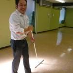 レンタルスタジオ 秋葉原 床の清掃