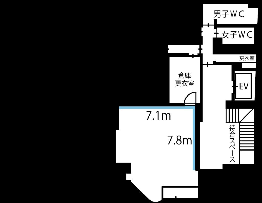 秋葉原レンタルスタジオ 秋葉原スクエアスタジオ スタジオ図面